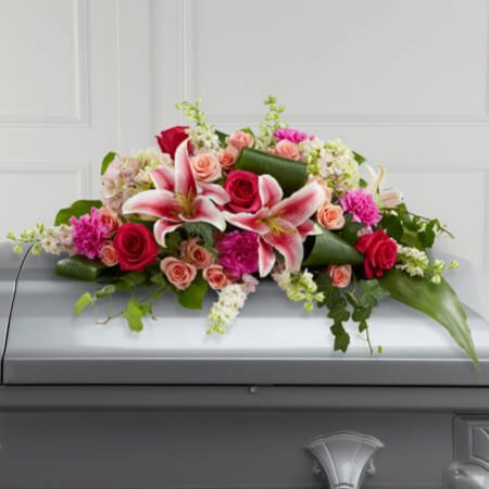 casket spray wreaths